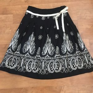 Paisley Sequined Skirt